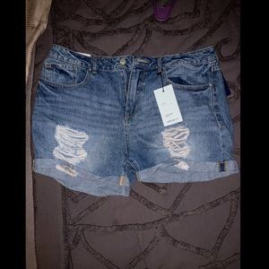 Brand new with tags ripped denim shorts
